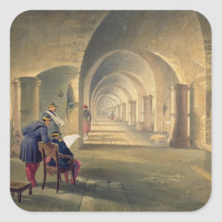 Interior of Fort Nicholas, plate from 'The Seat of Square Sticker
