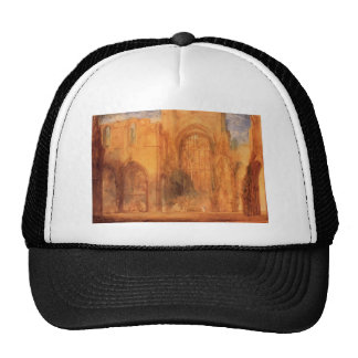 Interior of Fountains Abbey by William Turner Trucker Hat