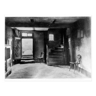 Interior of Johann Sebastian Bach's  house Postcard