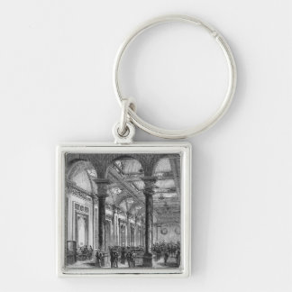 Interior of Lloyd's of London Silver-Colored Square Key Ring