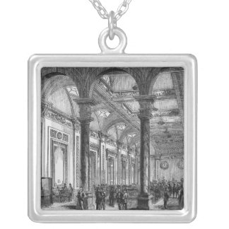 Interior of Lloyd's of London Silver Plated Necklace