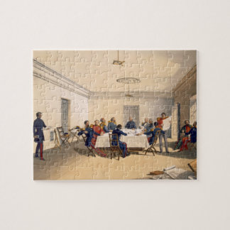 Interior of Lord Raglan's Head Quarters, plate fro Jigsaw Puzzle