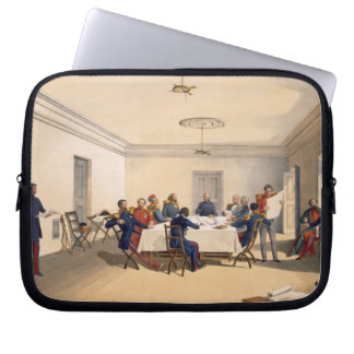 Interior of Lord Raglan's Head Quarters, plate fro Laptop Computer Sleeves
