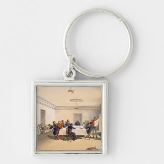 Interior of Lord Raglan's Head Quarters, plate fro Silver-Colored Square Key Ring