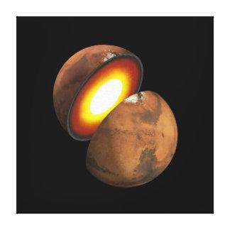 Interior of Mars Space NASA Canvas Print