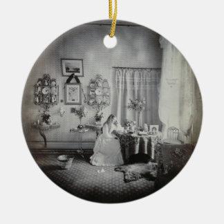 Interior of Muckross House, c.1865 (albumen print) Christmas Ornament