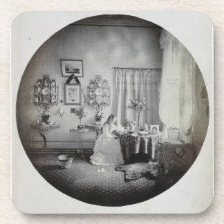 Interior of Muckross House, c.1865 (albumen print) Drink Coaster