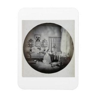 Interior of Muckross House, c.1865 (albumen print) Rectangular Photo Magnet
