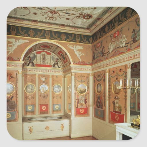 Fabulous Interior of Napoleon's bathroom, built in 1807 Square Stickers 512 x 512 · 63 kB · jpeg