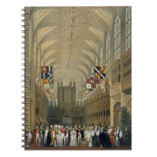 Interior of St George's Chapel, 1838 (colour litho Notebook