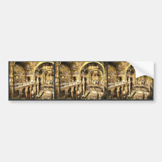 Interior of St. Mark's, Venice, Italy vintage Phot Bumper Stickers