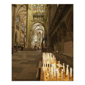 Interior of St. Peter's Cathedral in Regensburg Poster
