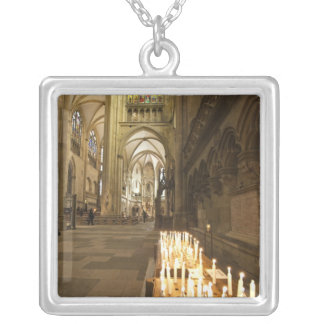Interior of St. Peter's Cathedral in Regensburg Silver Plated Necklace