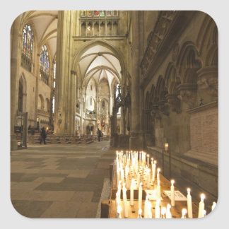 Interior of St. Peter's Cathedral in Regensburg Square Sticker