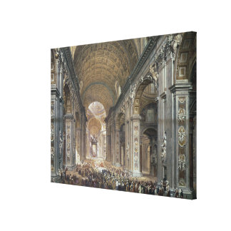 Interior of St. Peter's, Rome, 1867 Canvas Print
