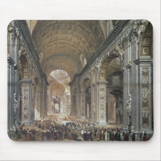 Interior of St. Peter's, Rome, 1867 Mouse Mat