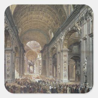 Interior of St. Peter's, Rome, 1867 Square Sticker