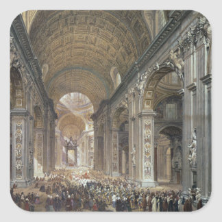Interior of St. Peter's, Rome, 1867 Stickers