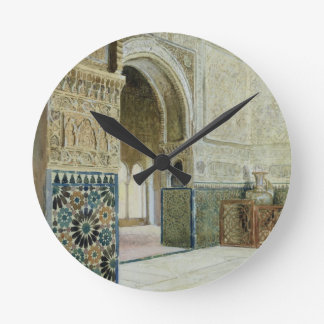 Interior of the Alhambra, Granada (w/c) Clock