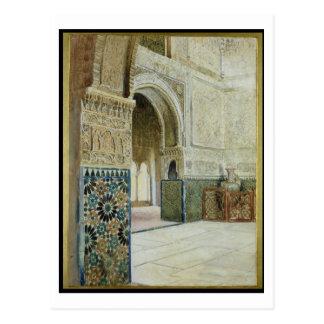 Interior of the Alhambra, Granada (w/c) Postcard