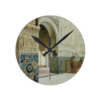 Interior of the Alhambra, Granada (w/c) Round Clock