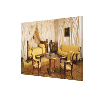 Interior of the bedroom of Napoleon I  1800-03 Gallery Wrapped Canvas