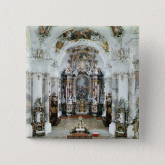 Interior of the benedictine abbey church 15 cm square badge