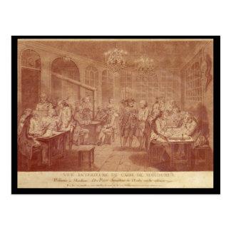 Interior of the Cafe Manouri, c.1775 Postcard
