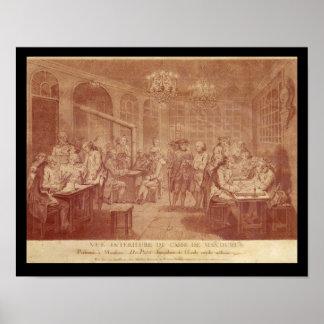 Interior of the Cafe Manouri, c.1775 Poster