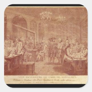 Interior of the Cafe Manouri, c.1775 Square Sticker