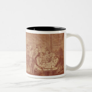 Interior of the Cafe Manouri, c.1775 Two-Tone Coffee Mug