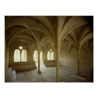 Interior of the Chapter House, 12th-13th century Poster