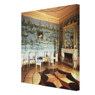 Interior of the Chinese Blue Drawing Room Canvas Print