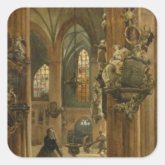 Interior of the Church of St. Nicholas, Berlin Square Sticker