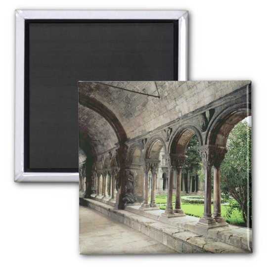 Interior of the cloister square magnet