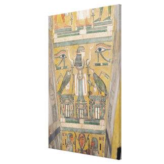 Interior of the coffin of Imenemipet Canvas Print