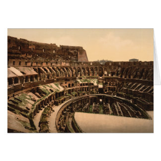 Interior of the Colosseum, Rome, Italy Card