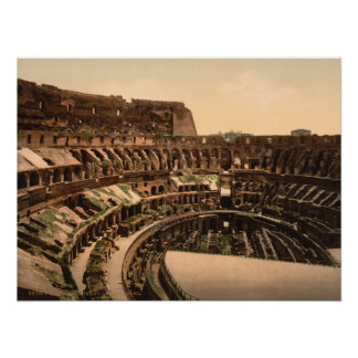 Interior of the Colosseum, Rome, Italy Poster