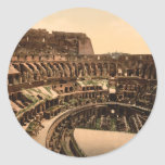 Interior of the Colosseum, Rome, Italy Round Stickers