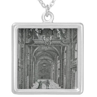Interior of the Duke's Theatre in Lincoln's Inn Silver Plated Necklace