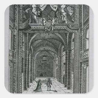 Interior of the Duke's Theatre in Lincoln's Inn Square Sticker
