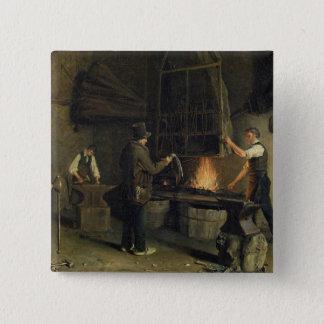 Interior of the Forge, 1837 15 Cm Square Badge