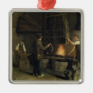 Interior of the Forge, 1837 Christmas Ornament