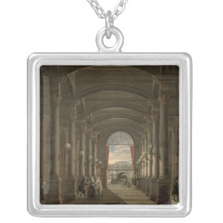 Interior of the Gare Saint-Lazare Silver Plated Necklace