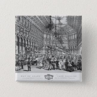 Interior of the 'Grand Cafe Parisien', Paris 15 Cm Square Badge