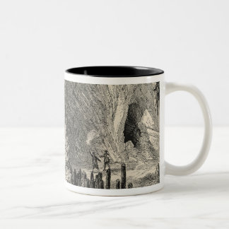 Interior of the Grotto of Antiparos Two-Tone Coffee Mug