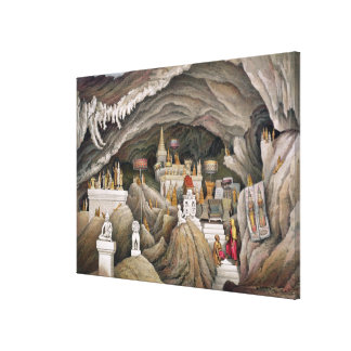 Interior of the grotto of Nam Hou, Laos, from 'Atl Canvas Print