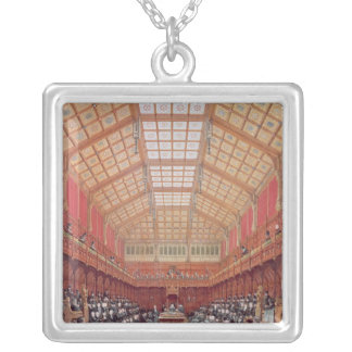 Interior of the House of Commons Silver Plated Necklace