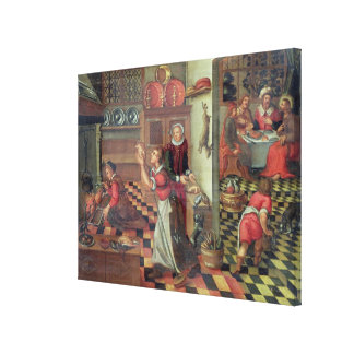 Interior of the Kitchen, the Supper at Emmaus Canvas Print