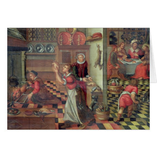 Interior of the Kitchen, the Supper at Emmaus Card